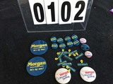 Political Buttons: NC, Robert Morgan - US Senate and Attorney General, Hunt, etc.