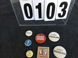 Political Buttons: NC, US Senator Hopefuls, Terry Sanford, Anti-Helms, Congressman