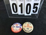 Political Buttons: Presidential, Humphrey 3 1/2