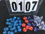 Political Buttons: Presidential, McGovern, Grouping Buttons and Tags