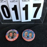 Political Buttons: Clinton - Gore, Bush - Quayle; Matched Set 3