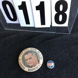 Political Buttons: Presidential, LBJ - Inaugural 3 1/2