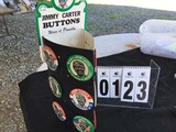 Political Buttons: Display with 12 - Jimmy Carter Buttons, Original, Card No. JC 312, NG Slader Co
