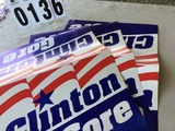 Posters: Clinton - Gore Folded 17