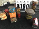 Old Grocery Store Tins: Maxwell House, Superia Shortening, Bee Brand Insect Powder