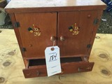 Small child's hutch w/ dog decals, 1 drawer & 2 doors, approx. 12 1/2
