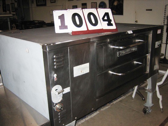 "Used Baker's Pride Single Deck Pizza Oven LP DS805 65""x43"""