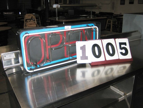 "Used Neon ""OPEN"" Sign 33.5""x15"""