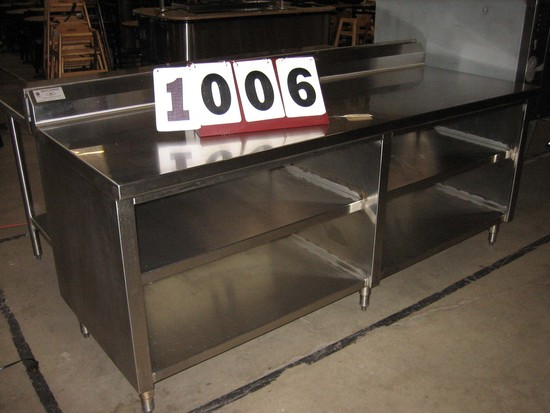 "Used SS Work Table 84""x30""x34"""