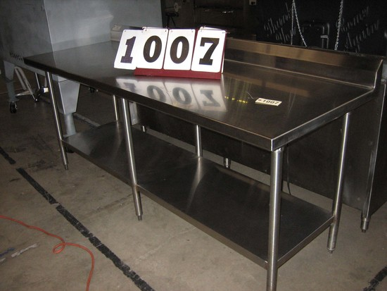 "Used SS Work Table 84""x30""x35"""