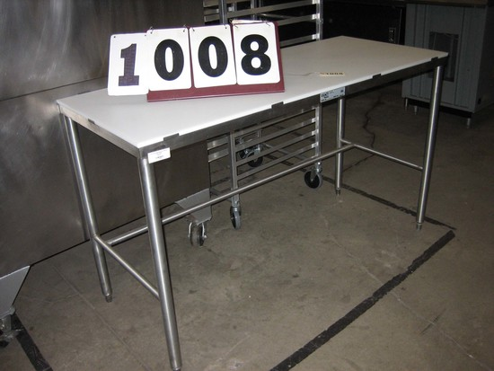 "Used Exact Poly Butcher's Table 24""x59"""