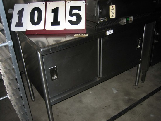 "Used 48"" SS Cabinet; 48""x30""x37"""