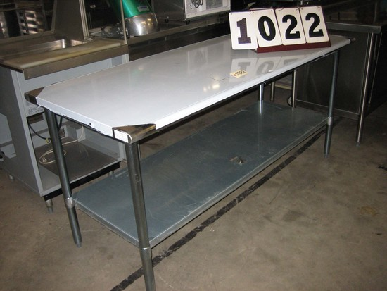 "New SS Work Table 30""x72""x34"" SLWT43072F"
