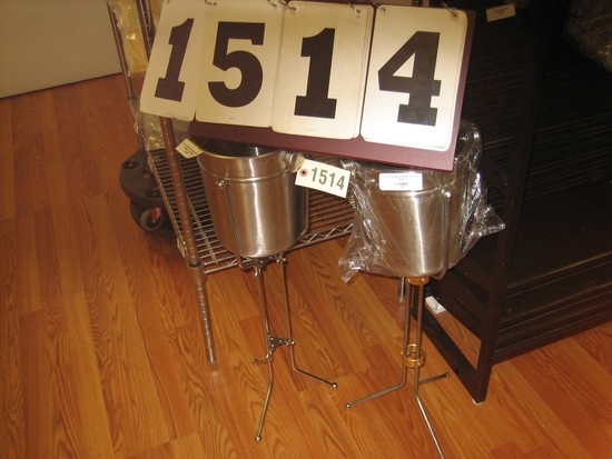 2 SS Ice Buckets with Stands