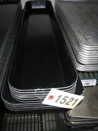 10 Used Black Cambro Trays