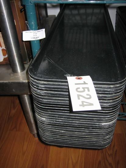 29 Used Fiber Plastic Bakery/Baking Trays, 8x25