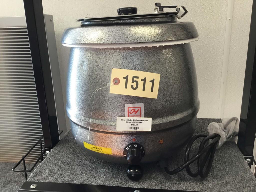 New 10.5 Quart SS Soup Warmer; Silver; SEJ31000C