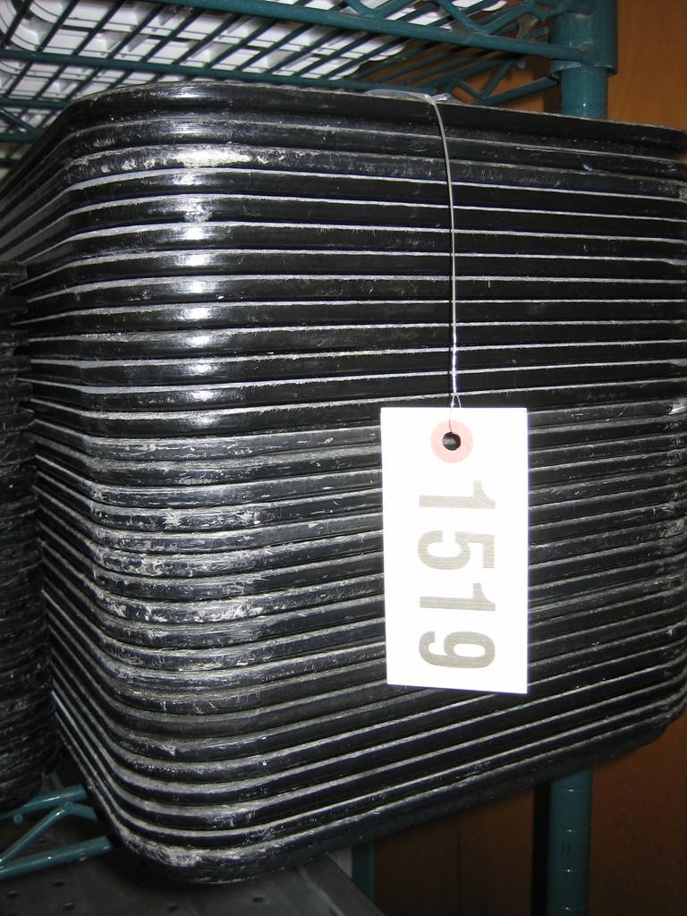 32 Used Black Cambro Inserts