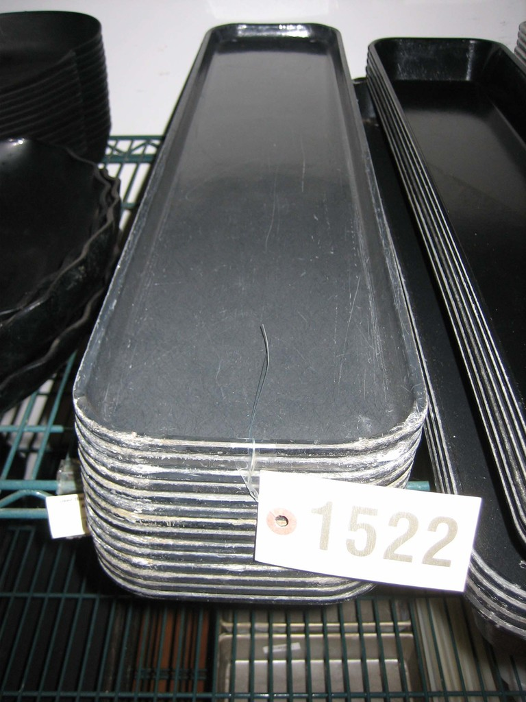 14 Used Black Cambro Insert Trays