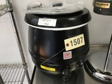 New 10.5 Quart SS Soup Warmer, Model SEJ30000C, Black