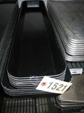 10 Used Black Cambro Trays