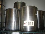 10 Used Large SS Bain Marie Pots