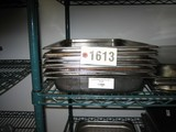 8 Used Full Size SS Hotel Pans, 2.5
