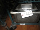 4 Used SS Perforated Pans; Various Sizes