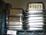 15 Used 1/4 Size SS Pans, 2.5