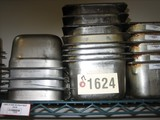 17 Used 1/3 Size SS Pans; 4