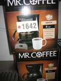 4 New in Box Mr. Coffee White/Black 4 Cup Coffee Makers