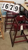 Group of 2 New Wooden Child's High Chairs, Mahogany Finish
