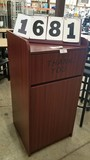 New Wooden Trash Receptacle, Mahogany; 46