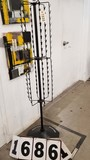 Used Clip Display Merchandiser Stand, Rotates, Black