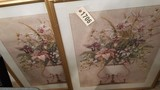Pair of Floral Prints in Gold Frames 35x29
