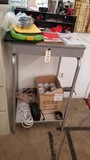Work Station Stand; Metal; 51 tall x 24 deep x 24 wide; Has Shelves and Drawer