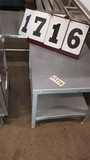 Metal Table, 24x20x22, Has 2 Shelves