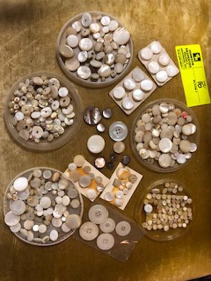 Vintage Lot of All Old/Victorian Mother of Pearl Buttons
