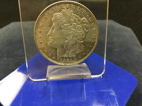1921 United States of America Morgan Silver Dollar; E-Pluribus-Unum