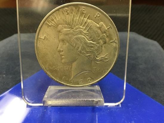 1922 United States of America Peace Silver Dollar; E-Pluribus-Unum