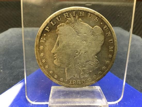 1880 United States of America O Morgan Liberty Silver Dollar; E-Pluribus-Unum