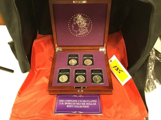 The Complete Uncirculated US Morgan Silver Dollar Mint Collection; 1883-Carson City Mint, 1921-Denve