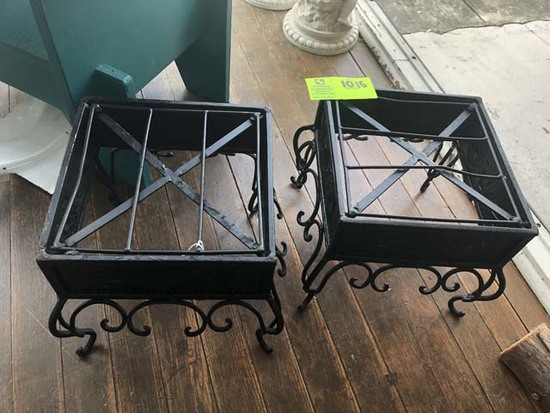 """Pair of Metal Plant Stands, 10""""x10""""x10"""""""