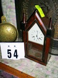Mantle Wind Up Clock with Pendulum, in Wood Case, 19