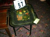 Hand Painted, Pennsylvania Dutch Designed (from 1870-1880 Period) Floral Tole Tray