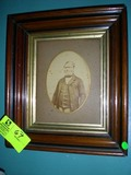 Wood Framed Shadowbox with Antique Photograph of Gentleman from late 1700s to early 1800s, 15