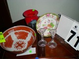 Group of Decorative Items; includes Royal Doulton Hand Painted Small Plate (8