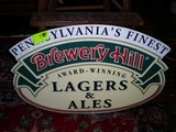 Metal Reproduction Beer Sign of Brewery Hill Pennsylvania's Finest, 23