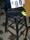 Black Painted Stool, 13