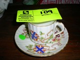 Souvenir Cup and Saucer, Honoring Victoria, Queen of England, VR 1897
